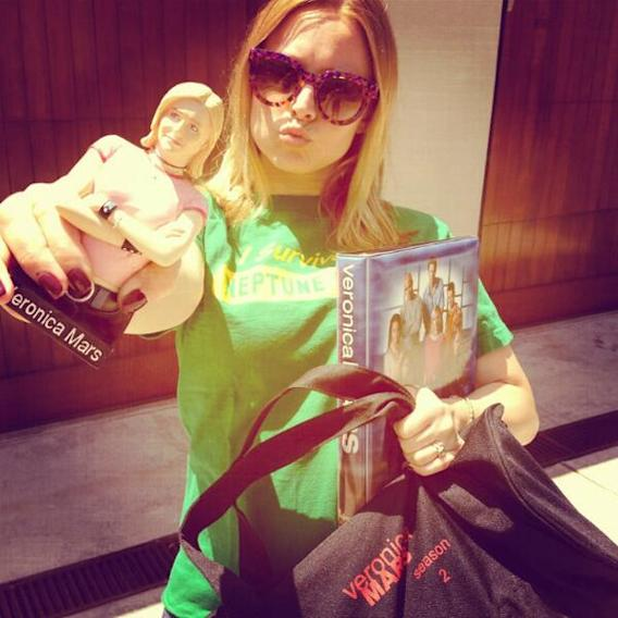 First day of school...I might be a bit over excited? #VeronicaMarsMovie