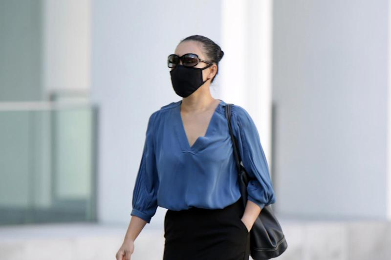 Bao Nguyen Brown walking into the State Courts on 2 June.