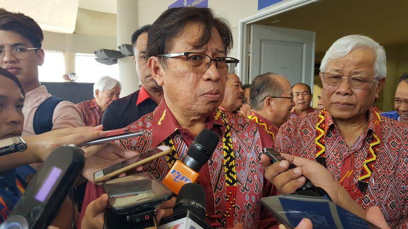 Sarawak Chief Minister Datuk Patinggi Abang Johari Openg stressed that people should be loyal to Sarawak and not him. — Picture by Sulok Tawie