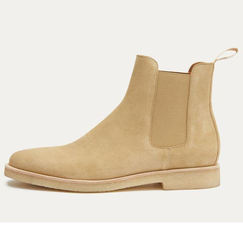 """<p><strong>New Republic</strong></p><p>shopnewrepublic.com</p><p><strong>$32.00</strong></p><p><a href=""""https://shopnewrepublic.com/products/sonoma-suede-chelsea-boot-tan"""" target=""""_blank"""">Buy</a></p><p>New Republic's beloved crepe-soled style became an immediate sensation when it first dropped, and the brand's signature product still represents some of the best bang for your buck you can get when it comes to copping a Chelsea boot that comes across super designer-y sans any of the usual sticker shock. </p>"""