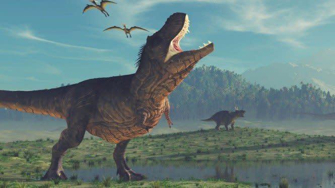Pemusnah Dinosaurus Bukan Gunung Berapi