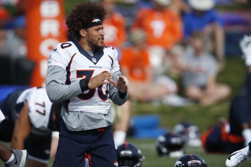 """Denver Broncos running back Phillip Lindsay is right: his """"Madden 20"""" avi looks nothing like him. (AP)"""
