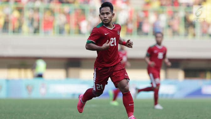 Salah satu winger Timnas Indonesia, Andik Vermansyah (Liputan6.com/Helmi Fithriansyah)