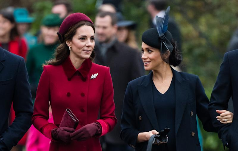 Kate Middleton and Meghan Markle on Christmas Day