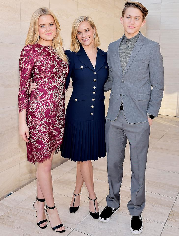<p>The twinning trio were all smiles at <em>The Hollywood Reporter</em>'s Women in Entertainment Power 100, where the <em>Big Little Lies</em> actress was honored with the Sherry Lansing Leadership Award in December 2019.</p>