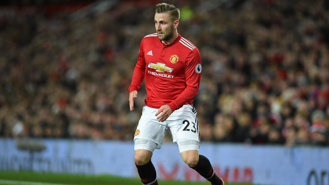 Bek Manchester United, Luke Shaw. (AFP/Oli Scarff)