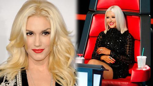 Christina Aguilera Welcomes Gwen Stefani to 'The Voice'