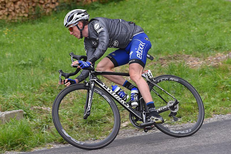 Daniel Martin – then with Etixx-QuickStep – in some prototype Mavic Comete Ultimate shoes on stage 20 of the 2016 Tour de France