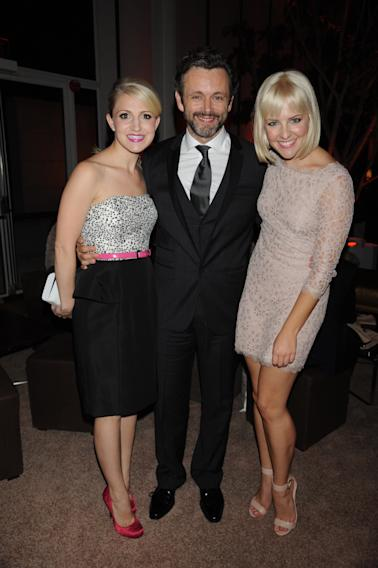 Annaleigh Ashford, Michael Sheen and Helene Yorke seen at the premiere screening of MASTERS OF SEX, hosted by SHOWTiME and SONY PICTURES TELEVISION, on Thursday, September 26, 2013 at The Morgan Library and Museum in New York City. (Photo by Scott Gries/Invision for SHOWTIME/AP Images)