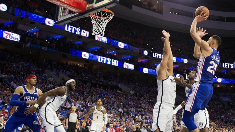 NBA: Playoffs-Brooklyn at Philadelphia