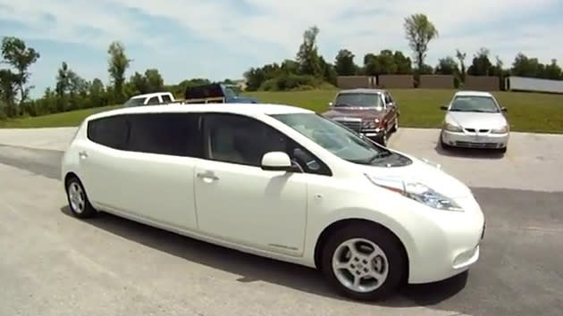 Nissan Leaf Limo arrives for those electric occasions: Motoramic Dash