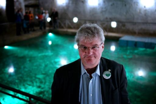 Dutch civil engineer Han Admiraal in the cavernous Bourbon Tunnel dug deep under Naples