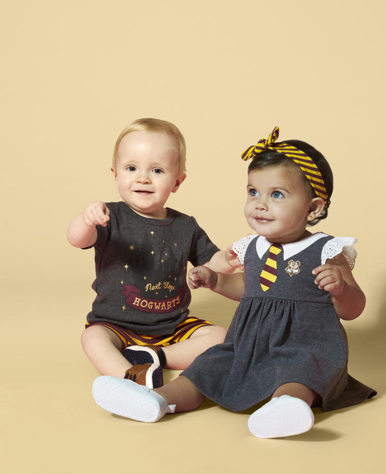 <p>This adorable Harry Potter baby range is perfect for all the mini witches and wizards out there waiting patiently for their Hogwarts letter. Photo: Supplied/BIG W </p>