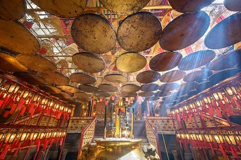 A temple in Hong Kong - Credit: GETTY