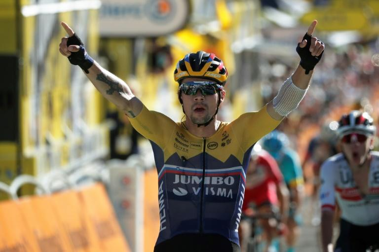 Roglic wins first Tour summit skirmish as Alaphilippe retains yellow jersey