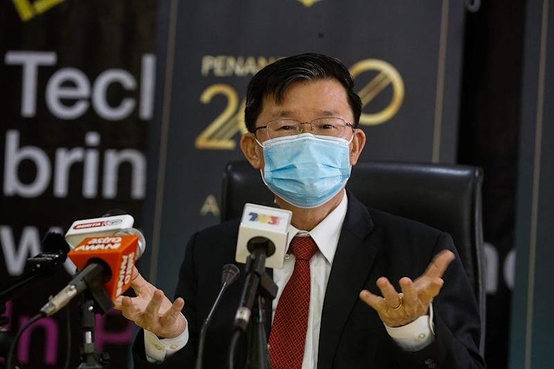 Penang Chief Minister Chow Kon Yeow said the decisions made at the meeting are focused on those returning from states that are red or yellow zones. — Picture by Sayuti Zainudin