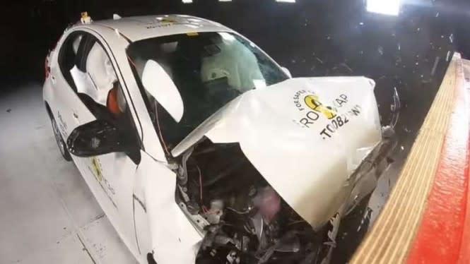 Toyota Yaris Paling Baru Diuji Tabrak, Begini Jadinya