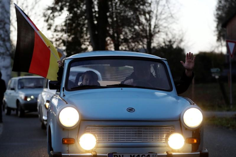 Event marking the 30th anniversary of the fall of the Berlin Wall, in Moedlareuth