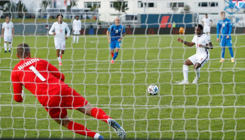England scrape win in Iceland after late penalty drama