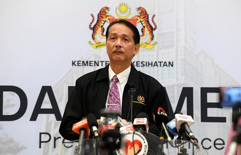 Health Director-General Datuk Dr Noor Hisham Abdullah said the man — case number 1056 — was admitted to the hospital on March 18 and tested positive for Covid-19 on March 20. — Bernama pic