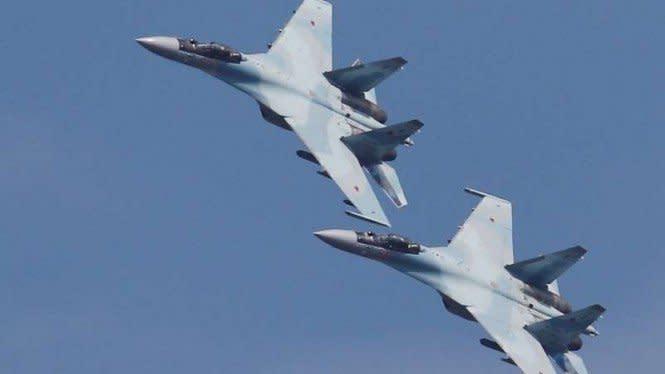 Jet Tempur Rusia Hadang Pesawat Militer AS di atas Laut Jepang