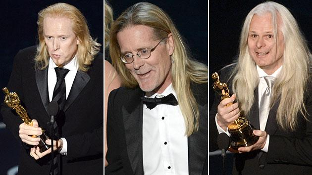 Weird Oscars trend: unisex stringy blond hair