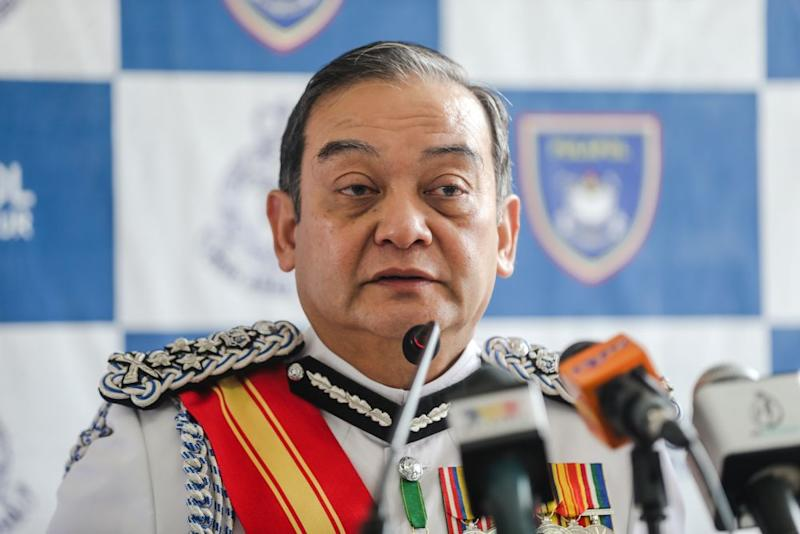 Deputy Inspector-General of Police Datuk Mazlan Mansor speaks during a press conference at the Police Training Centre in Kuala Lumpur November 8, 2019. — Picture by Firdaus Latif