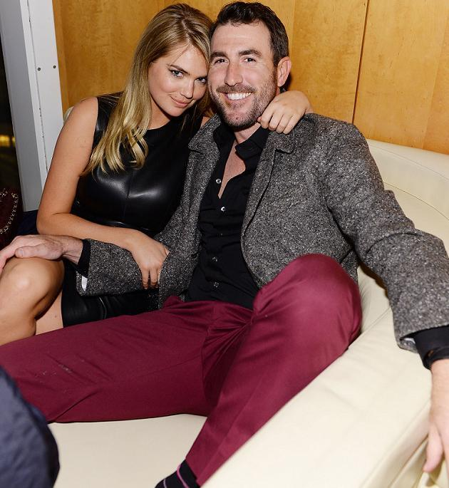 Justin Verlander and Kate Upton appear cozy at GQ Super Bowl party