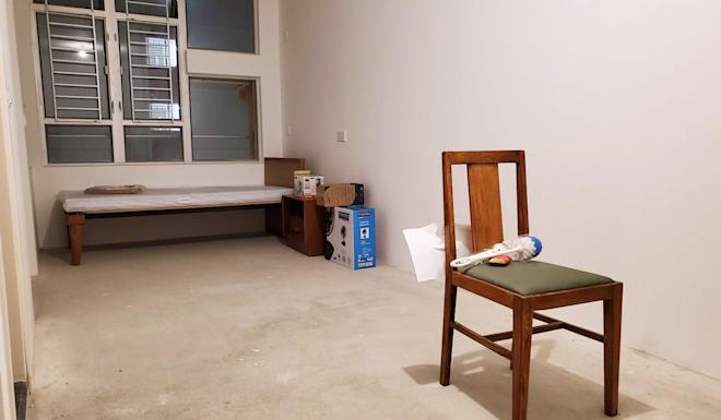 Basic furniture and home appliances are seen inside a Fai Ming Estate flat the government planned to use as a designated quarantine facility. Photo: Edmond So