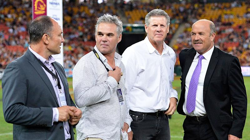 Chris Johns (second from left) didn't initially want Anthony Seibold at the Broncos.
