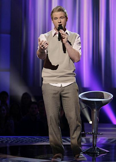 Blake Lewis performs in front of the judges on 6th season of American Idol.