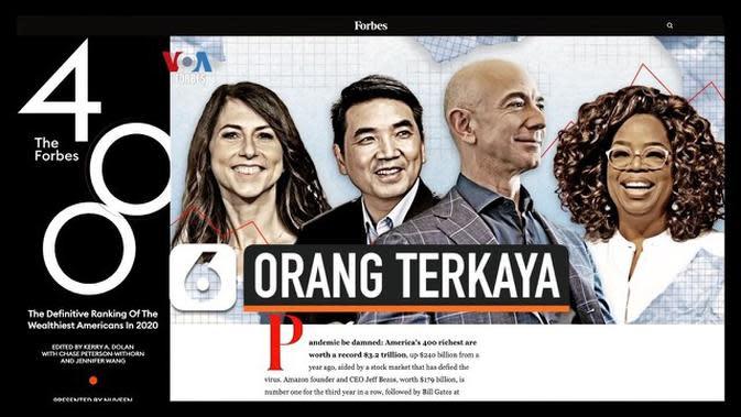 VIDEO: Ini Dia Orang-Orang Terkaya di AS Versi Majalah Forbes