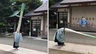 日本寺廟每年辦綠蔥頭儀式 超萌活動影片曝光網友笑翻