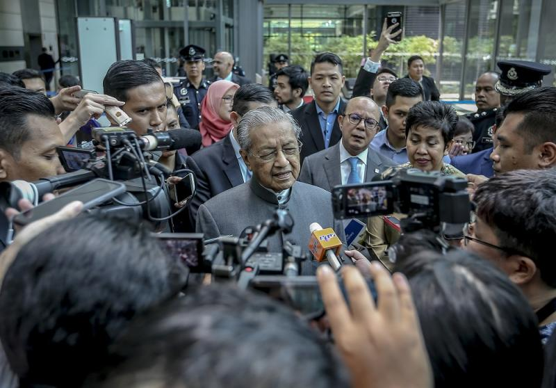 Prime Minister Tun Dr Mahathir Mohamad speaks during a press conference at Sasana Kijang in Kuala Lumpur July 23, 2019. — Picture by Firdaus Latif