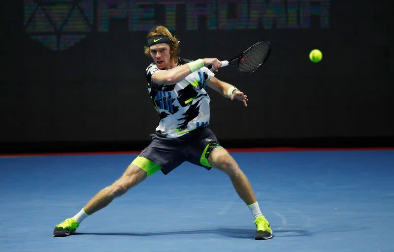 Rublev sets up final clash with Coric at St Petersburg Open