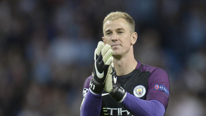 Joe Hart tak masuk rencana manajer baru Manchester City pada musim ini. (OLI SCARFF / AFP)