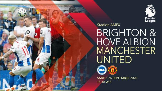 Brighton & Hove Albion vs Manchester United (Liputan6.com/Abdillah)