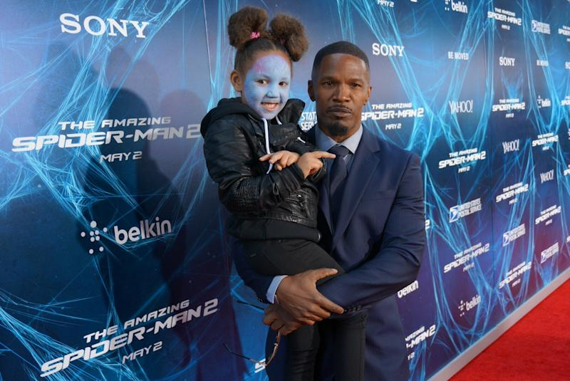 Jamie Foxx's Daughter Goes Mini-Electro at the 'Amazing Spider-Man 2′ Premiere