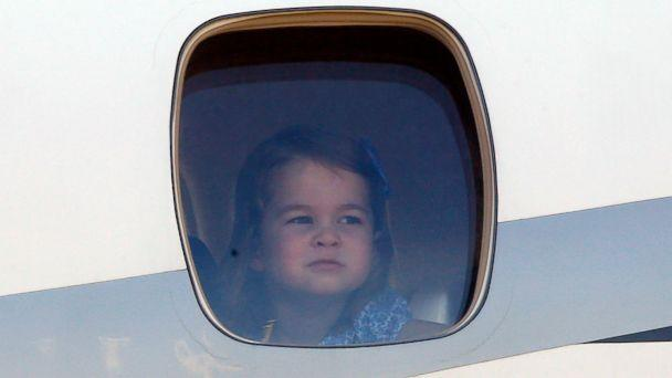 PHOTO: Princess Charlotte arrives with her royal family at the Tegel airport in Berlin, July 19, 2017. (Robin Nunn/Nunn Syndication/Polaris)