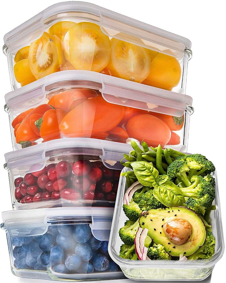 "<p>Feel good about the environment, and easily pack your lunches in these perfectly proportioned <a href=""https://www.popsugar.com/buy/5-Pack-Glass-Meal-Prep-Containers-407729?p_name=5-Pack%20Glass%20Meal%20Prep%20Containers&retailer=amazon.com&pid=407729&price=26&evar1=fit%3Aus&evar9=45709266&evar98=https%3A%2F%2Fwww.popsugar.com%2Ffitness%2Fphoto-gallery%2F45709266%2Fimage%2F45709291%2FDishwasher-Safe-Storage&list1=shopping%2Camazon%2Chealthy%20lunches%2Chealthy%20living%20tips%2Cmeal%20plans%2Cmeal%20prep&prop13=api&pdata=1"" rel=""nofollow"" data-shoppable-link=""1"" target=""_blank"" class=""ga-track"" data-ga-category=""Related"" data-ga-label=""https://www.amazon.com/5-Pack-29oz-Glass-Prep-Containers/dp/B06Y31WGWR/ref=sr_1_15?s=kitchen&amp;ie=UTF8&amp;qid=1548355274&amp;sr=1-15&amp;keywords=meal+prep+containers"" data-ga-action=""In-Line Links"">5-Pack Glass Meal Prep Containers</a> ($26, originally $30).</p>"