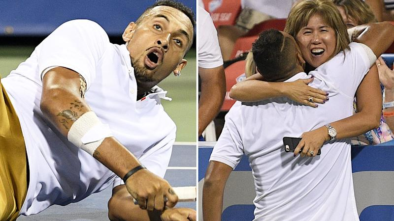 Kyrgios rides 2 tiebreaks to Citi Open men's title