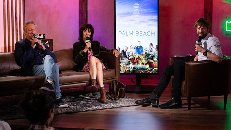 Bryan Brown and Rachel Ward visited Build Series Sydney to chat about their new film, Palm Beach. Photo: Build Series Sydney.