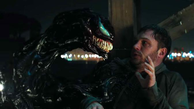Film Venom yang dibintangi Tom Hardy. (Sony Pictures)