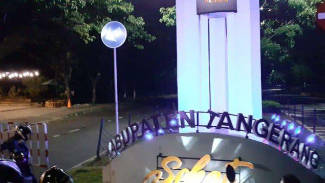 Cegah COVID-19, Akses ke Pusat Pemerintah Kabupaten Tangerang Ditutup