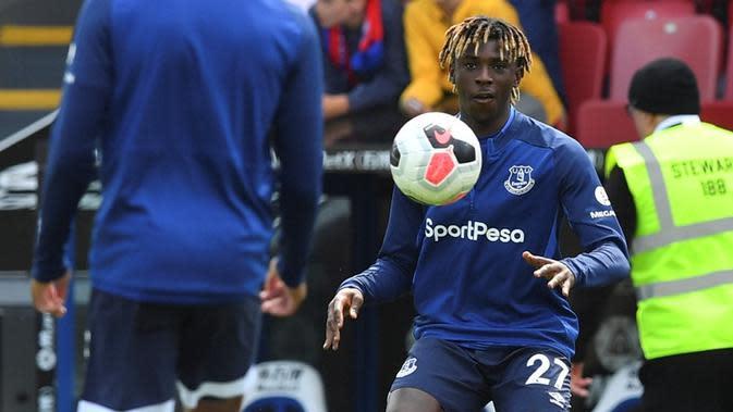 Penyerang Everton, Moise Kean. (AFP/Ben Stansall)