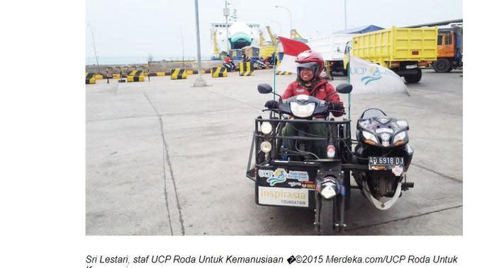 Sri Lestari berkeliling Indonesia untuk memberikan motivasi kepada para penyandang disabilitas lain seperti dirinya. (Merdeka.com)