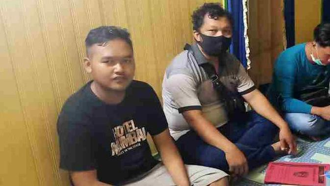 Gilang pelaku fetish kain jerik Unair ditangkap di Kalteng. (Sumber: Merdeka)