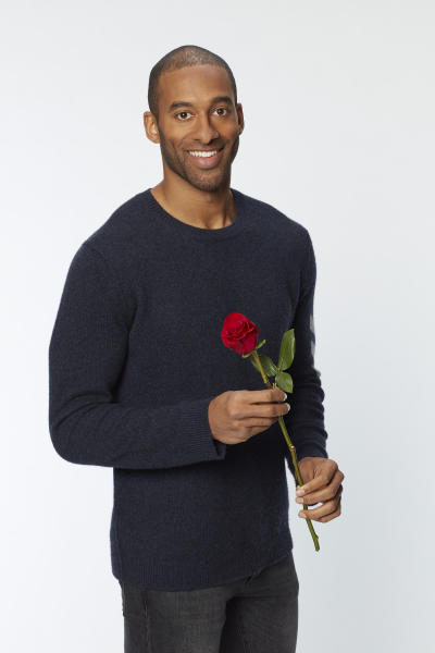 """This image released by ABC shows Matt James, who will be the next bachelor on the 25th season of the romance reality series """"The Bachelor."""" (Craig Sjodin/ABC via AP)"""