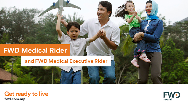 FWD Medical Rider and FWD Medical Executive Rider — a comprehensive and flexible medical coverage with smart benefits. — Picture courtesy of FWD Takaful