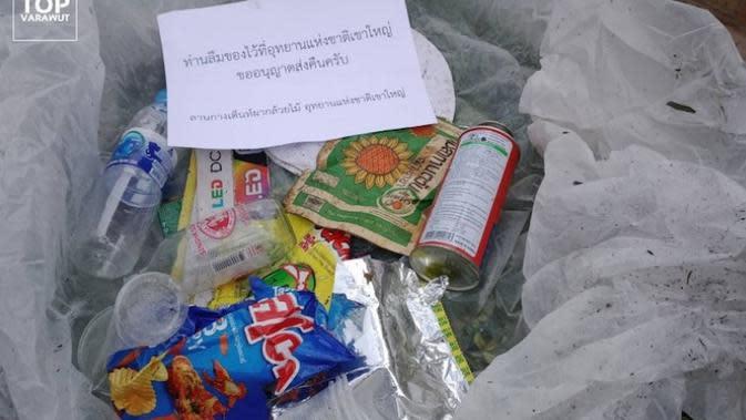 Sampah dapat berdampak berbahaya bagi satwa liar disekitar